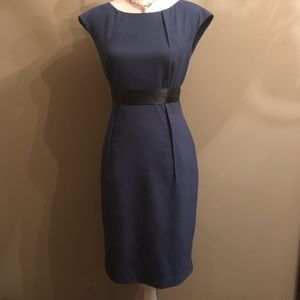 Calvin Klein Blue Belted Sheeth Dress Size 6